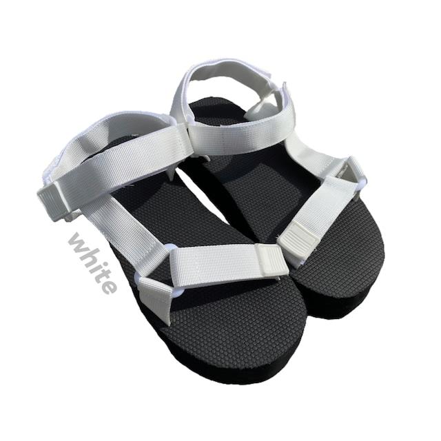 platform sports sandal [white]