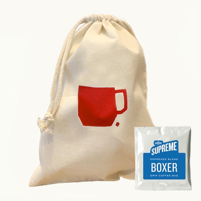 コーヒードリップバッグ5個&巾着セット<BOXER BLEND>