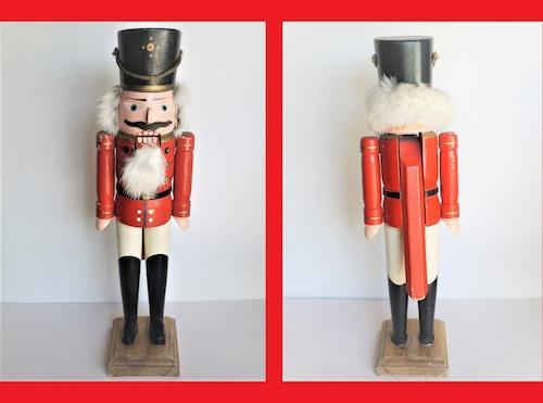 くるみ割り人形 赤い兵士 エルツ伝統木工芸品