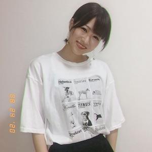 ドッグデザインプリントTシャツ【ぴろまるさん着用】