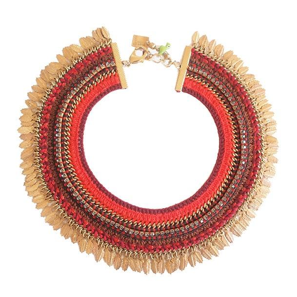 Maya-Bazaar ノマド チョーカー Red