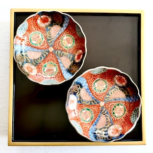 〈近日再入荷予定〉10/29頃発送 最終入荷【30933】 伊万里 なます皿 おしし/ Imari Bowl Lion