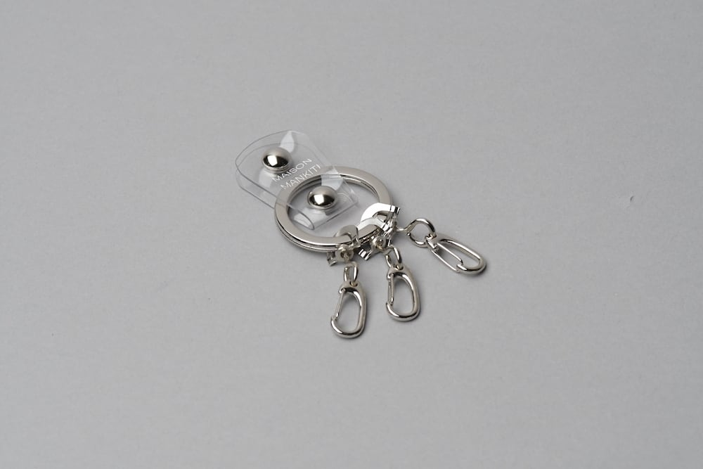 KEY RING_真鍮キーリング_■クリア・SILVER■ - 画像1