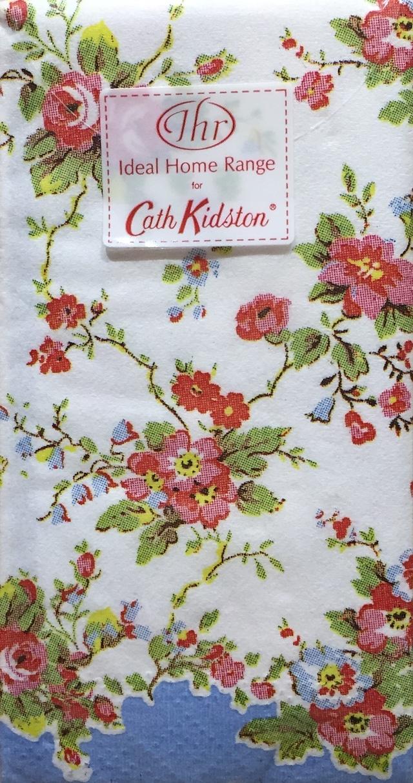 【Cath Kidston】バラ売り1枚 ポケットサイズ ペーパーナプキン BLEACHED SUMMER BLOSSOM ブルー