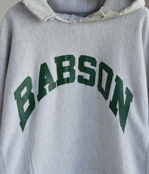 VINTAGE 80s CHAMPION REVERSE WEAVE SWEAT HOODIE -BABSON-