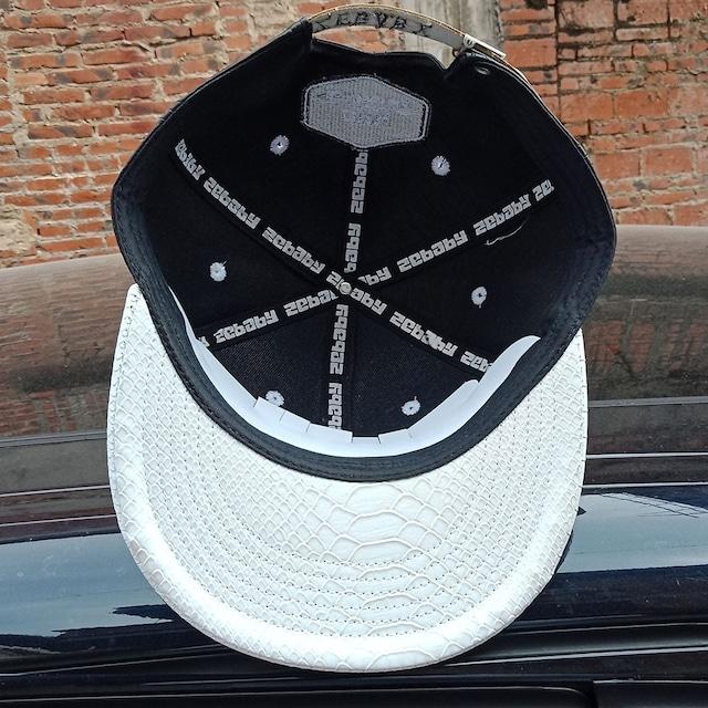 2 CAP SET:  LIMITED EDITION CAP & METAL PLATE LEATHER CAP