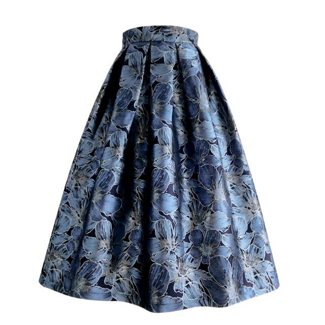 フラワー フレア スカート【R1119】