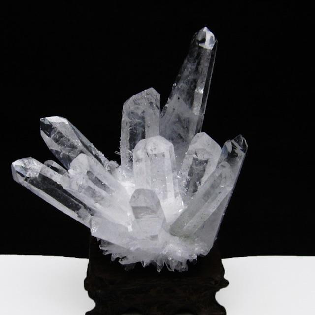 水晶 クラスター 水晶 原石 台座付属 [送料無料] 182-3807
