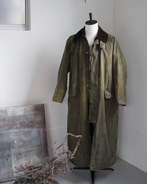 <SOLD OUT>Barbour - Burghley Long Coat 1980's