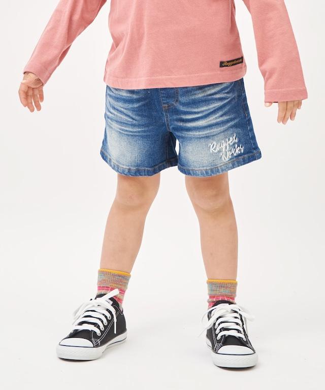 麻レーヨン花柄ギャザースカート
