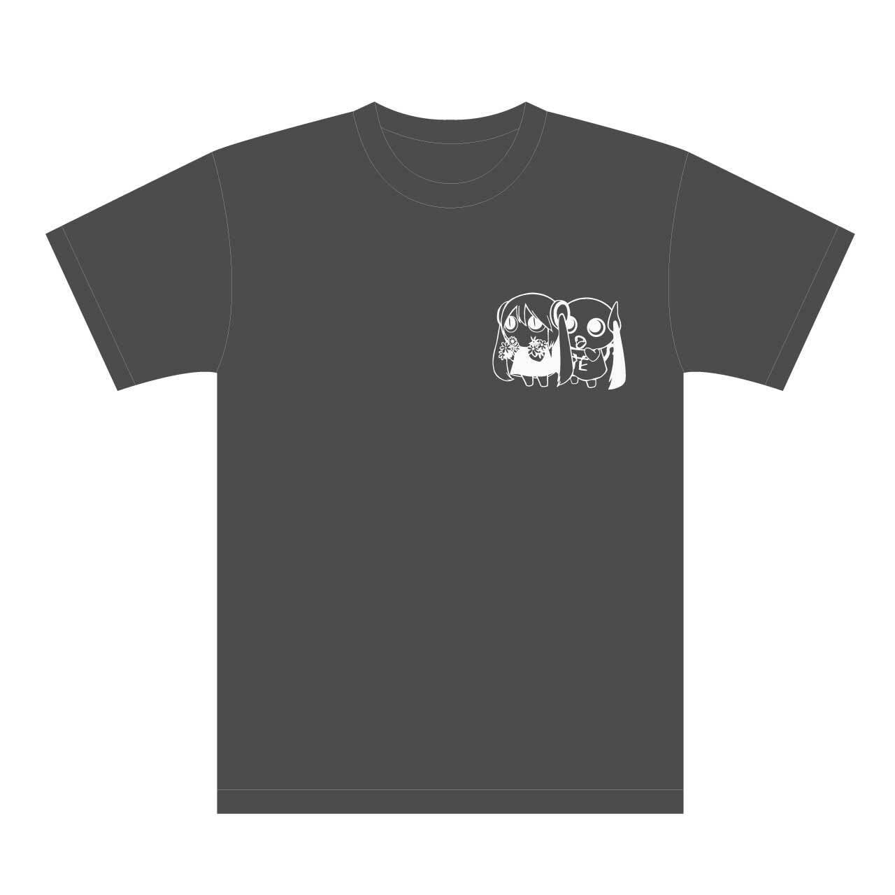 ピノキオピー 文明開花 Tシャツ(ダークグレー)+ステッカーセット - 画像1
