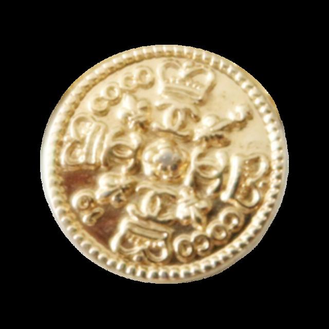 【LAST ONE SALE】ゴールドココマーク クラウン ロゴボタン 17㎜ C-20015 AB