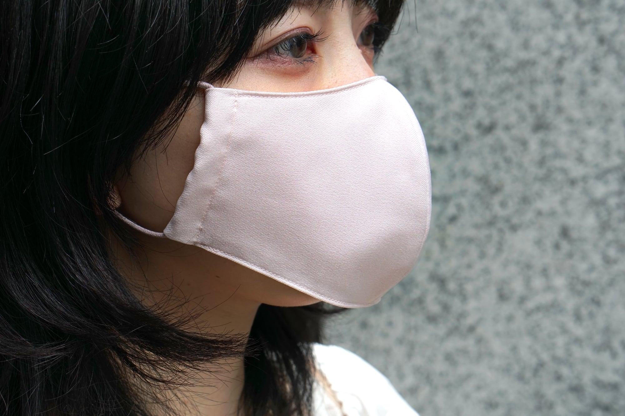蒸れない「風洞マスク」/薄ピンク【男女兼用】
