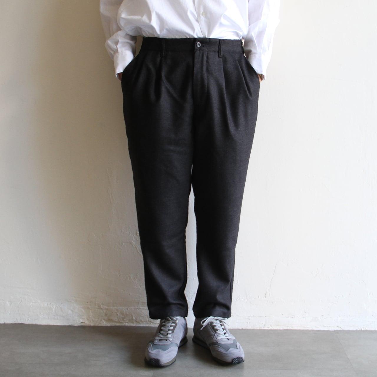 STILL BY HAND【 mens 】wool 2tuck pants