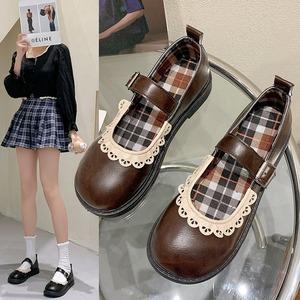 パンプス レディース ロリータ シューズ 靴  フラット コスプレ靴  LOLITA レザーシューズ 革靴 7133