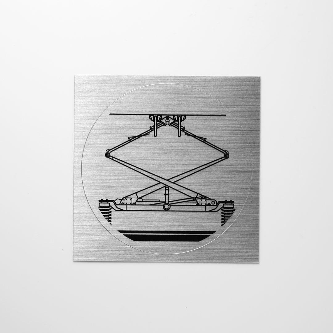 鉄道ステッカー 集電装置 / パンタグラフ ( Silver )