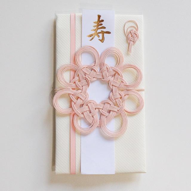 コースターとして使える 花まるご祝儀袋(ローズピンク)