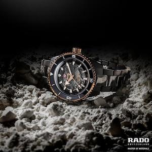 【RADO ラドー】Captain Cook High-Tech Ceramic キャプテンクック ハイテクセラミック(ブラック×ゴールド)/国内正規品 腕時計