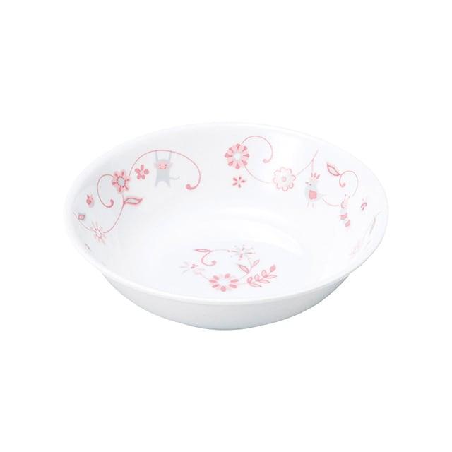 強化磁器 12.5cm 深小皿 サラサ・ピンク【1159-1310】