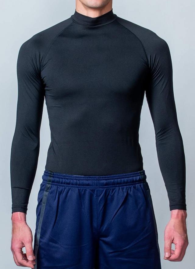 トレーニング時の動きをサポート「コンプレッションウェア(長袖)」 (ブラック)