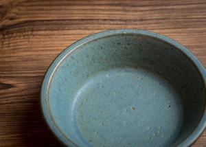 SHIROUMA 浅鉢 15cm 青(深皿・シリアルボウル・グラタン皿)/長谷川 哲也