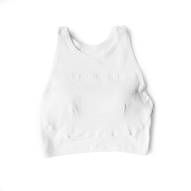 hi-neck croptop (white)