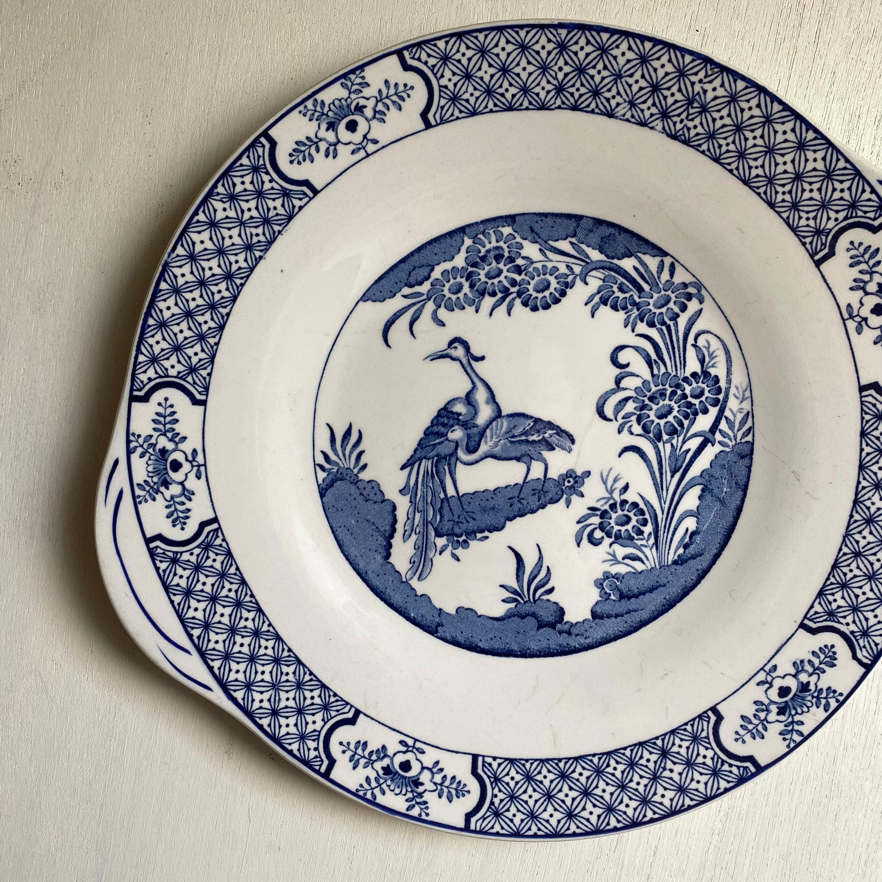 鳥と花のオリエンタルなサンドイッチ皿