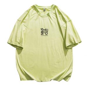 オーバーサイズロゴTシャツ   ロゴT  グラフィック アート プリント Tシャツ