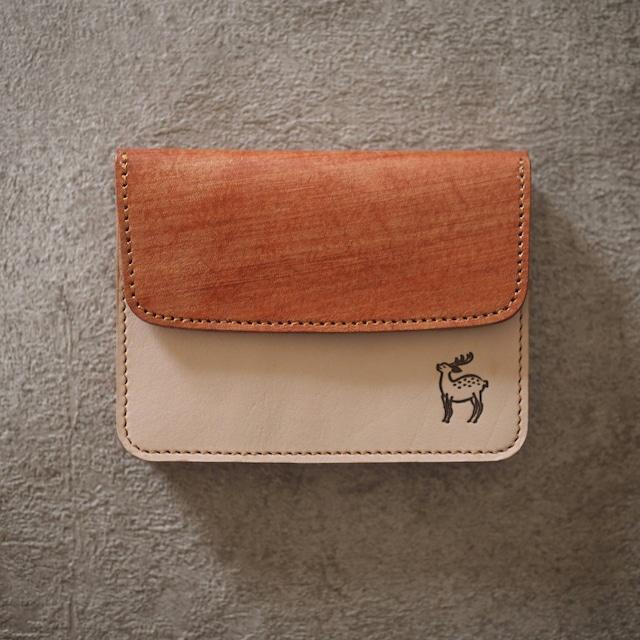 蛇腹ポケット財布(柿渋染めレザー × ヌメ / KAKISHIBU LEATHER × NUME)ミニ財布