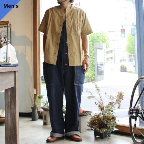 Soundman サウンドマン Bell's カーゴポケットバンドカラーシャツ 295M-015P Khaki beige