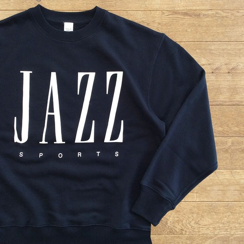 "JS ""JAZZ & SPORTS"" スウェット/ダークネイビー"