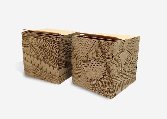 彫刻フセン(2個セット)モンメ&ナガレ