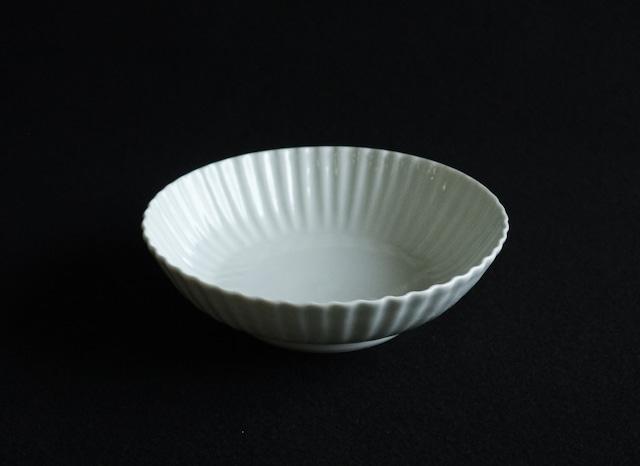 ■柳川謙治  :  白磁波輪花鉢