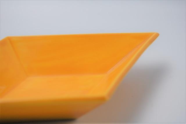 ◆受注生産◆  黄交趾菱形皿