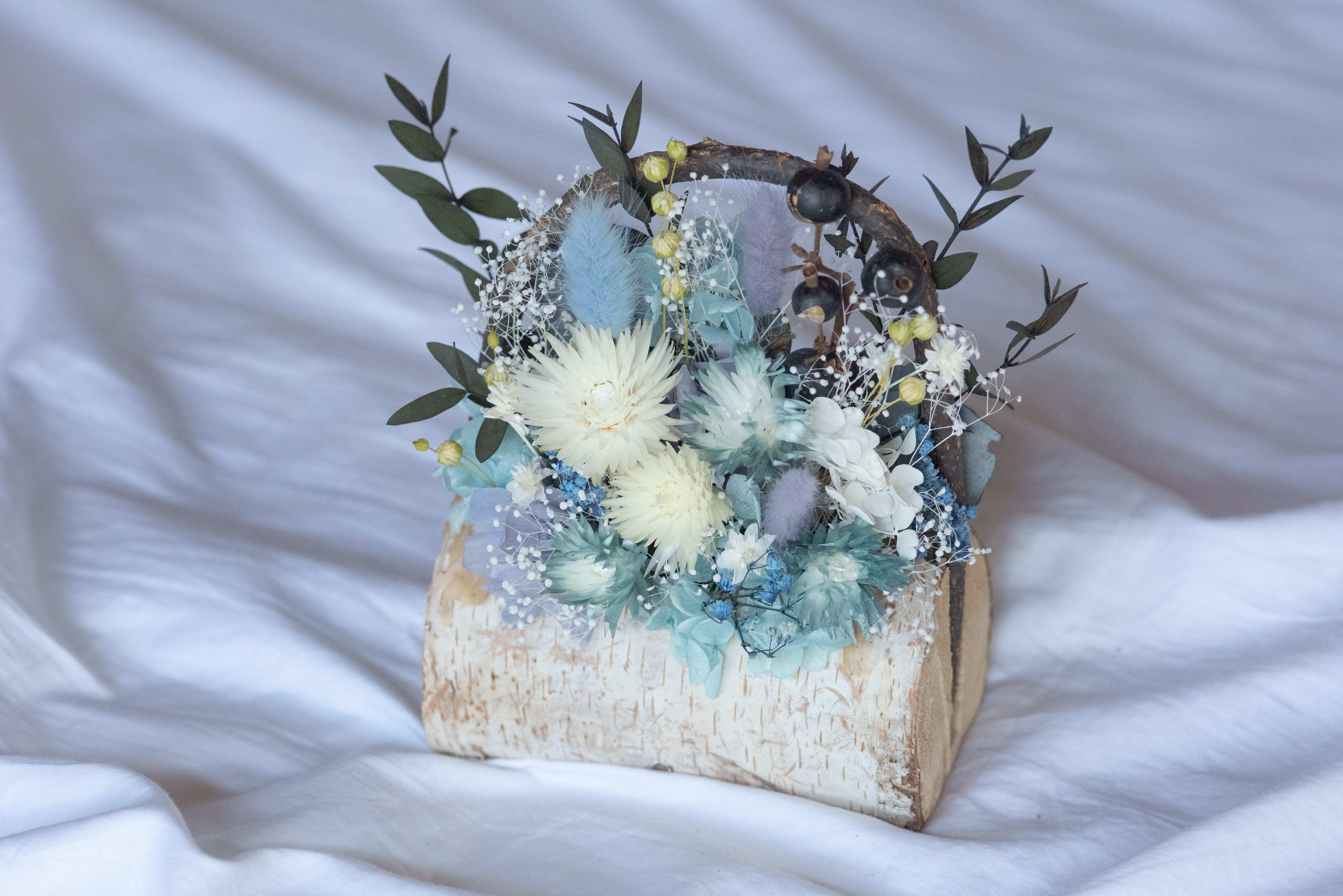 白樺の花かごアレンジメント(大)