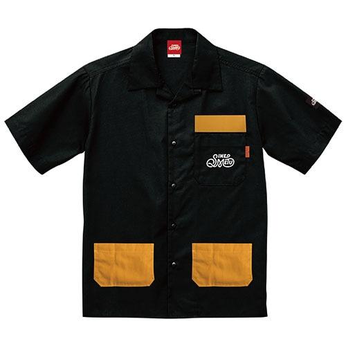 オープンカラーシャツ 半袖 / アウトドアブラック   SINE METU - シネメトゥ
