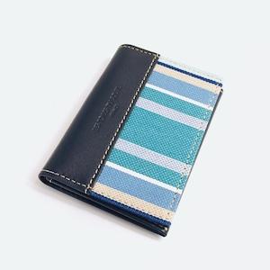 【LES TOILES DU SOLEIL】カードケース(ポルトカルト)(プチ カプリ ブラン ターコイズ/PETIT CAPRI Blanc Turquoise)