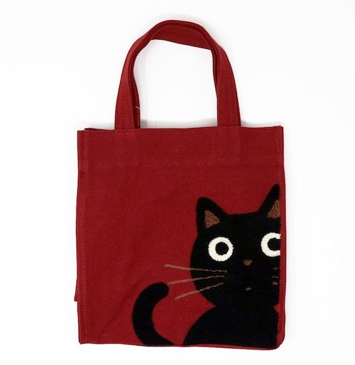 猫トートバッグ(たまちゃんトート)レッド