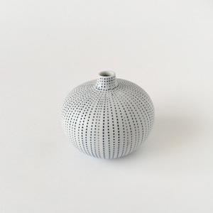 青い線の一輪挿し|Blue Dot Line Bud Vase
