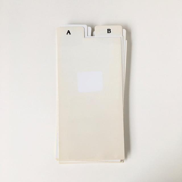 """ヴィンテージのインデックスカード(アルファベット) Vintage Index Card """"Alphabet"""""""