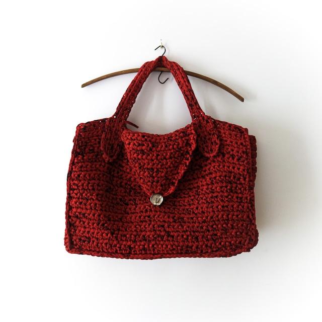 【FRENCH ANTIQUE】ハンドメイド編みハンドバッグ