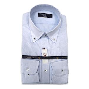 国産ボタンダウンシャツ ブルー