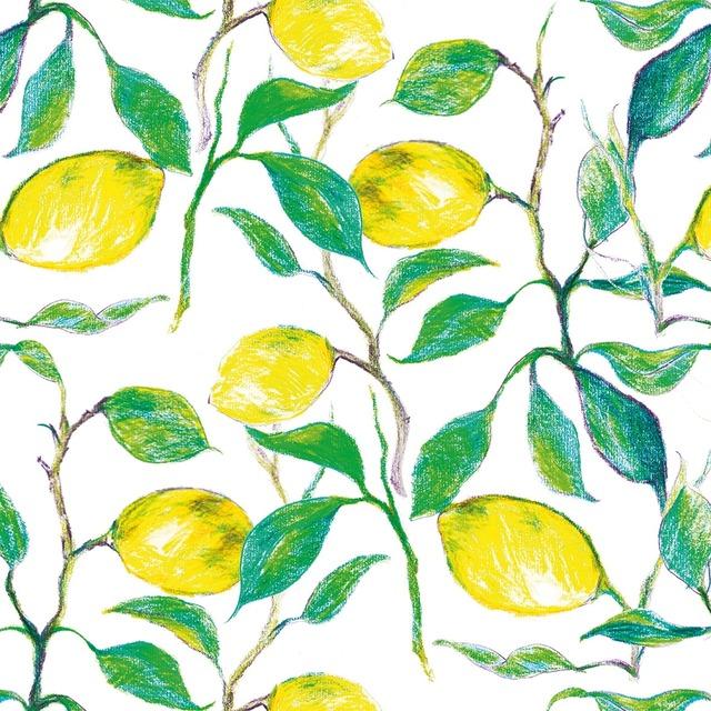 【Paperproducts Design】バラ売り2枚 ランチサイズ ペーパーナプキン BEAUTIFUL LEMONS ホワイト