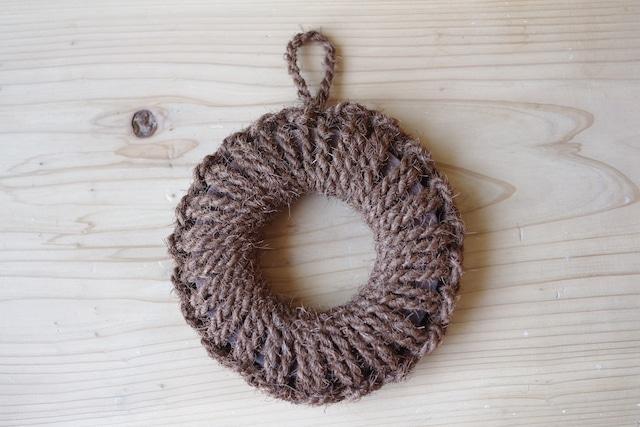 紀州産棕櫚の手編み鍋敷き(小)