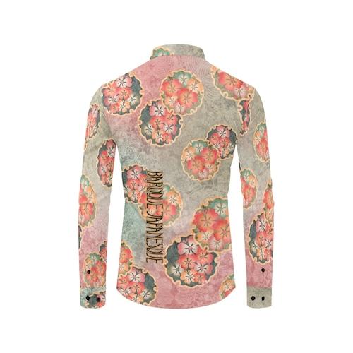 桜家紋蝶 ユニセックスサイズ長袖シャツ