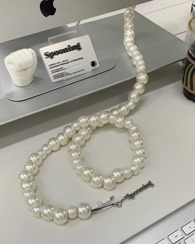 pearl cord jewelry