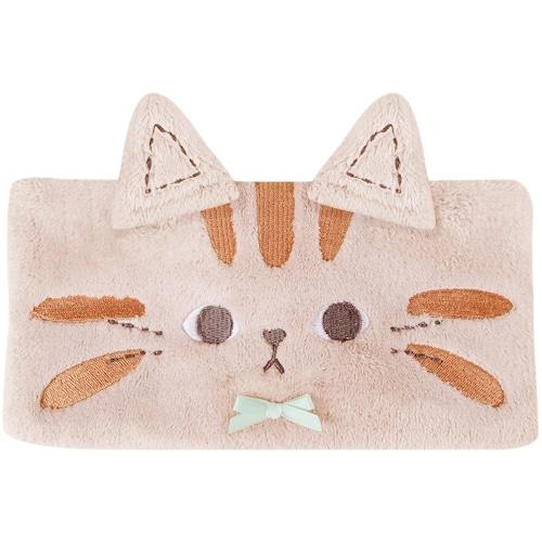 猫ヘアバンド(ふわふわマイクロファイバー)ねこのチャトーベージュ