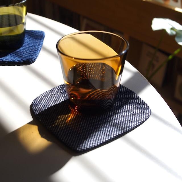 うしじま縫製 | 武州正藍染 四角コースター 一重刺子