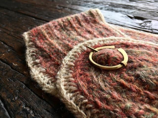 ノールビンドニングマフラーS [ウール100%] & 真鍮ブローチ