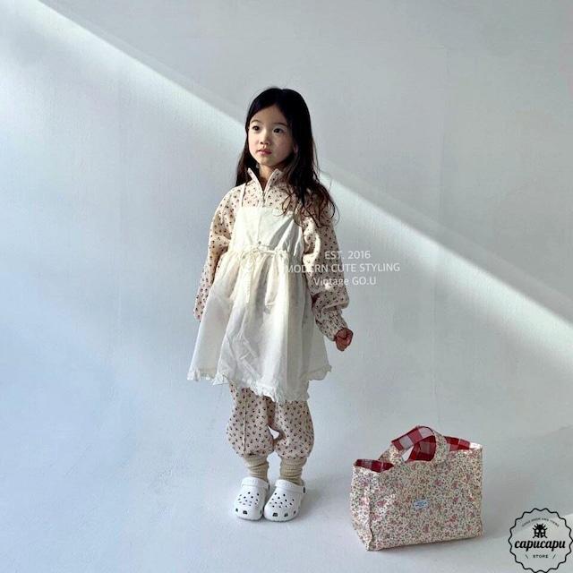 «即納» go.u Jumper skirt cream ジャンパースカート